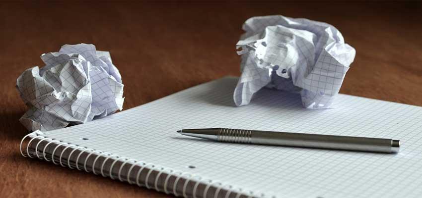 brug papir og pen når du skal lave en tale